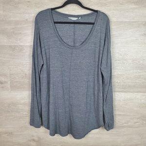 Athleta Studio Scoop Neck Sweatshirt Grey Size L
